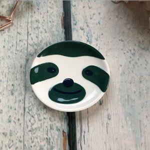 3/$25 Davids Tea Sloth sachet rest ceramic green